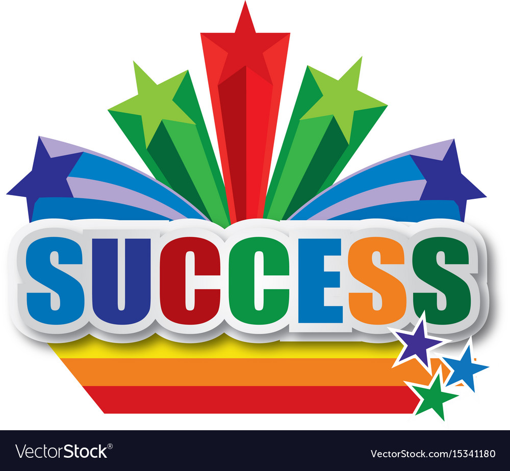 Success design vector image