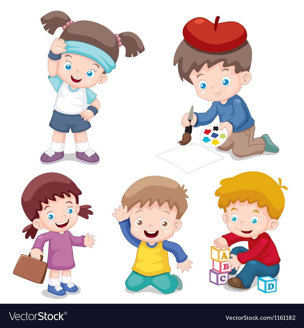 Kids characters Vector Image