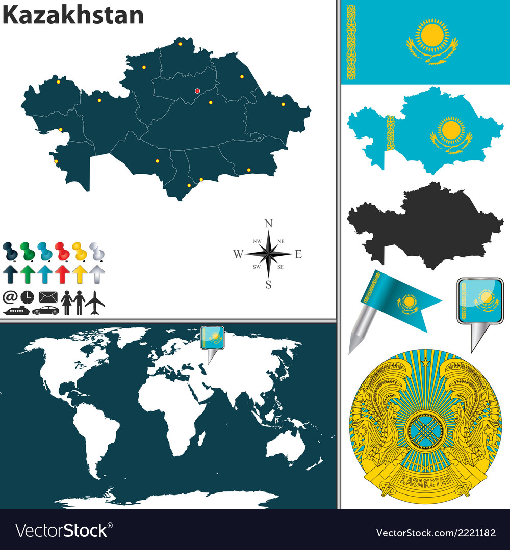 Kazakhstan map royalty free vector image vectorstock kazakhstan map vector image gumiabroncs Images