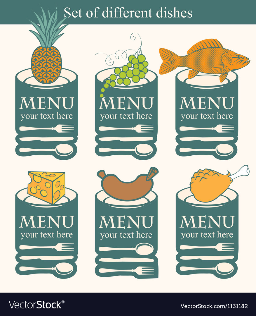 Set dishes vector image