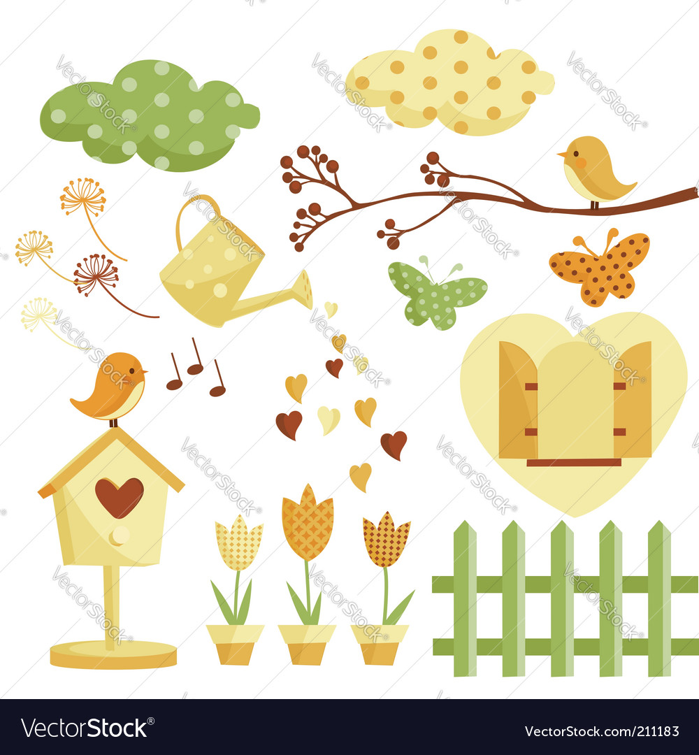 Garden illustrations vector image