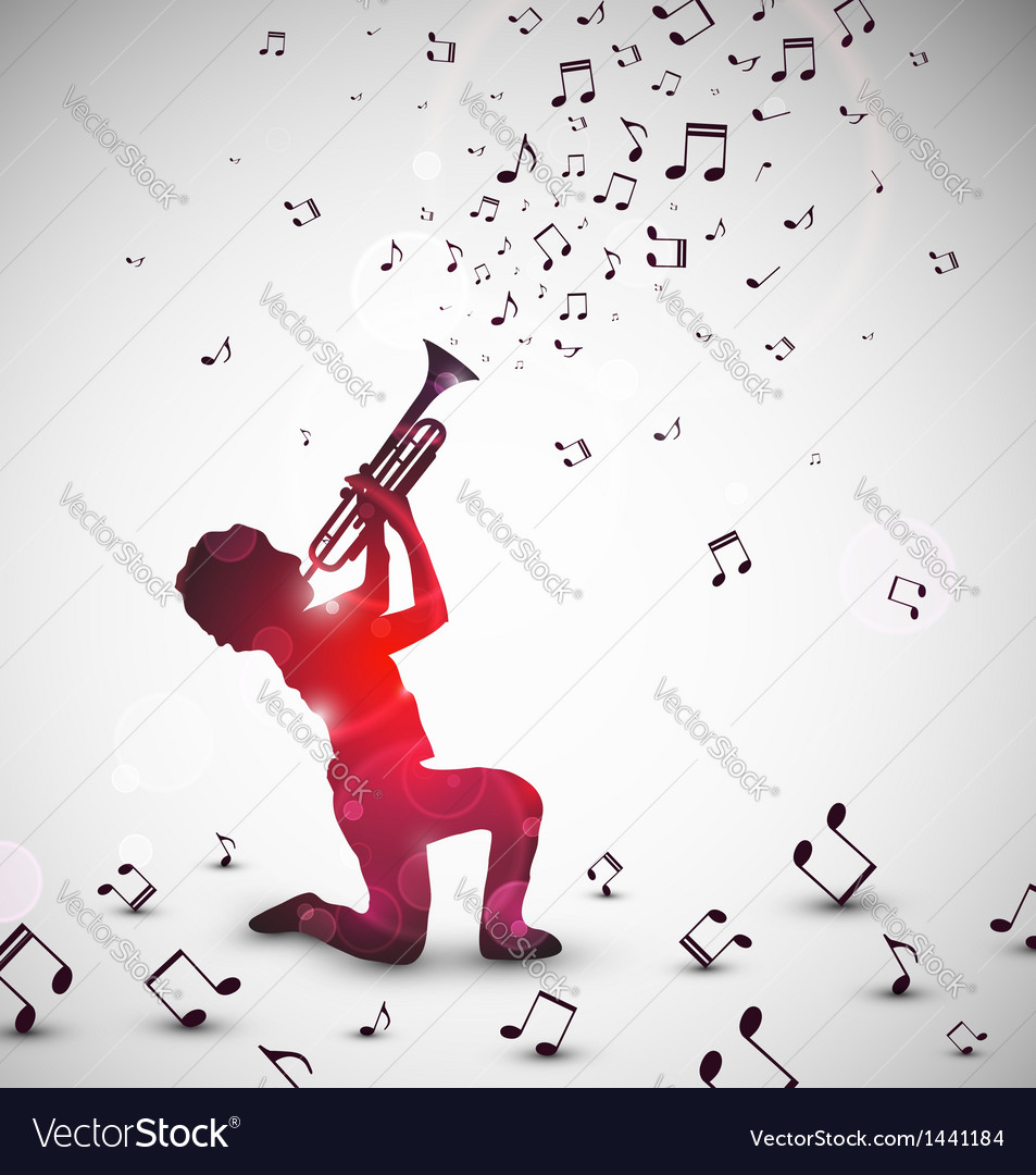 Abstract trumpeter vector image
