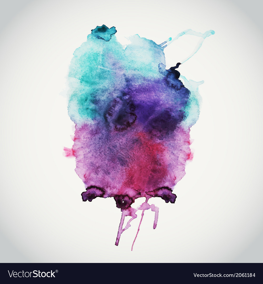 Abstract hand drawn watercolor background s vector image