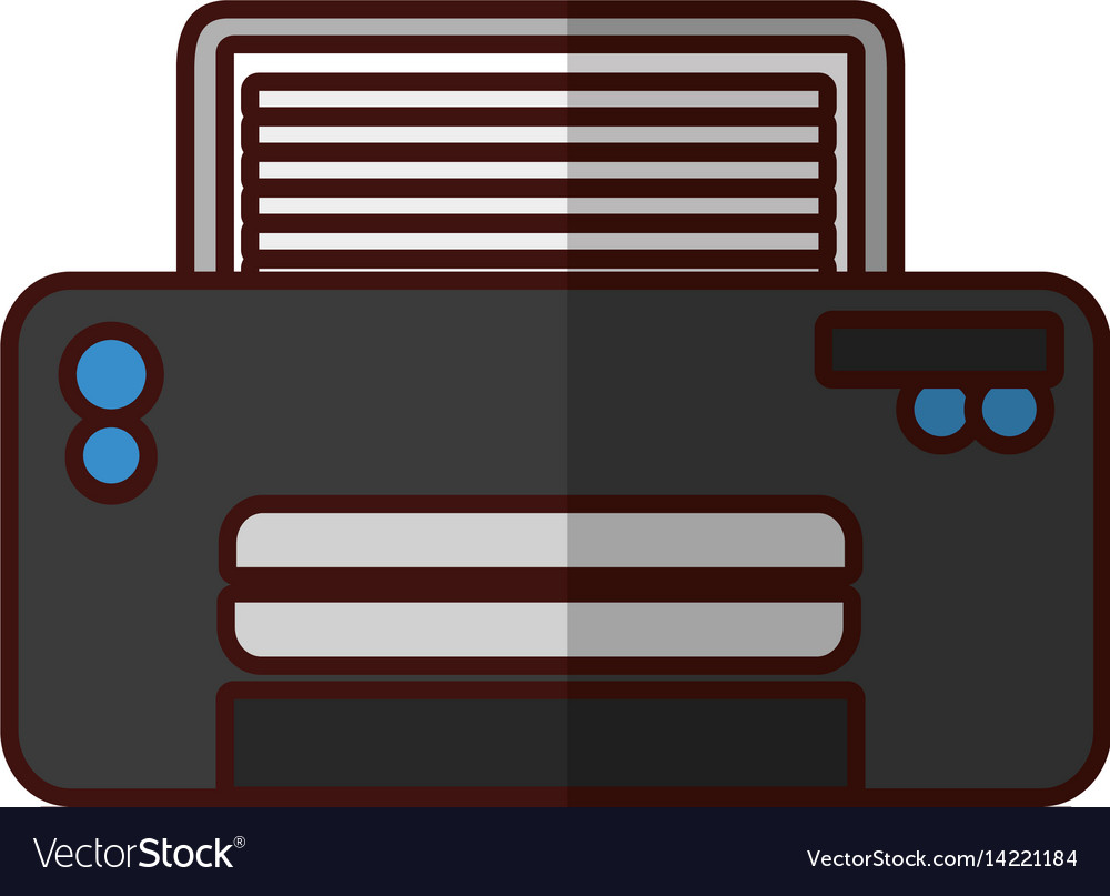 Modern printer technology vector image