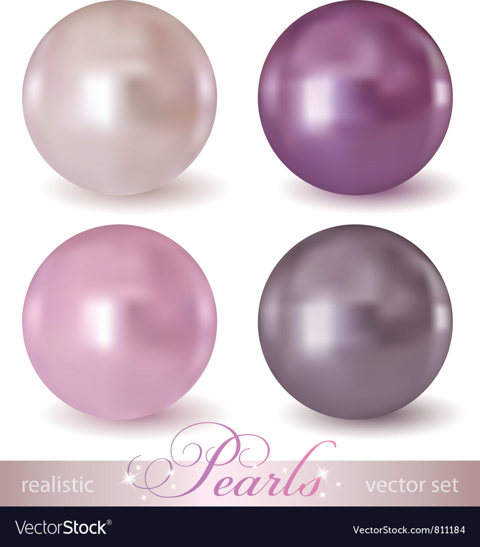 Set of pearls vector image
