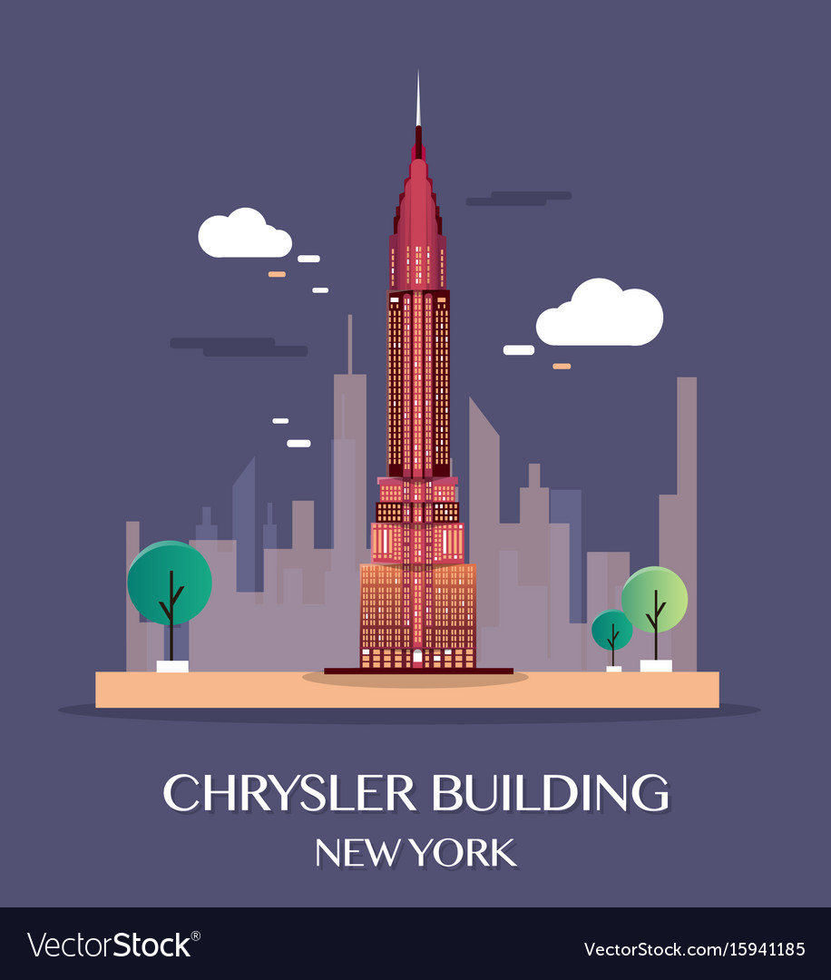 Chrysler building new york vector image