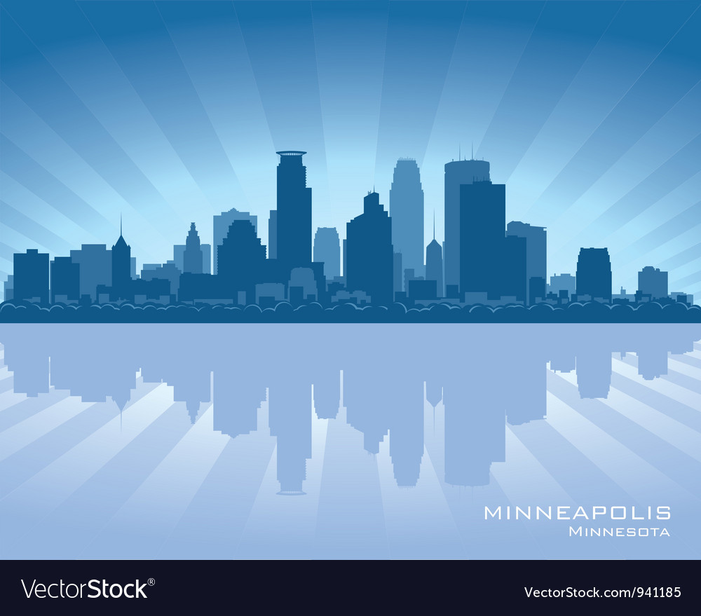 Minneapolis Minnesota skyline vector image