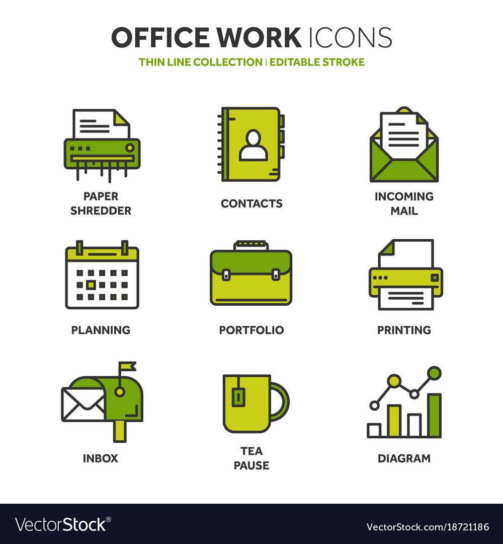 Business And Office Work Doents Paperwork Vector Image