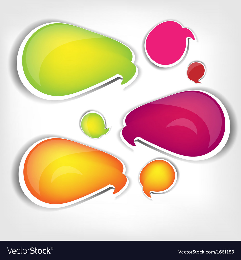 Paper origami speech bubble Colored blank for text vector image