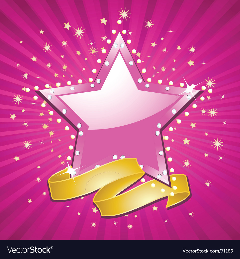 Superstar background vector image
