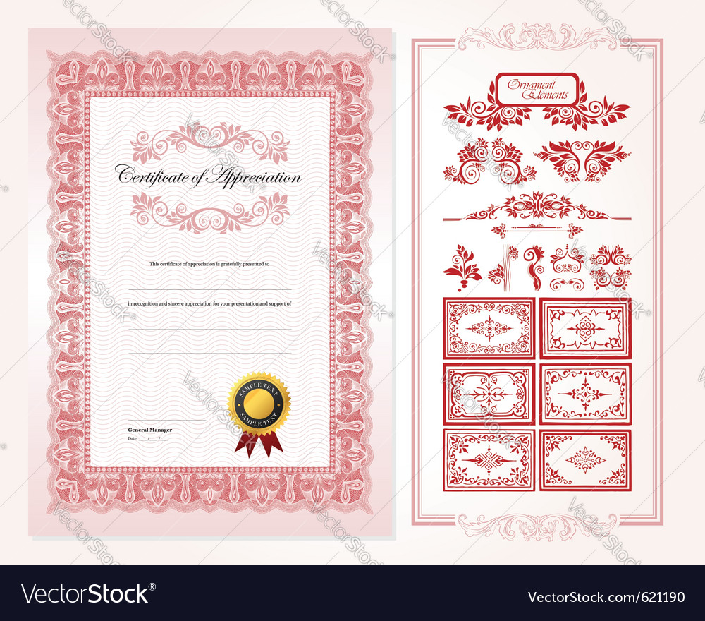 Certificate design template royalty free vector image certificate design template vector image 1betcityfo Choice Image
