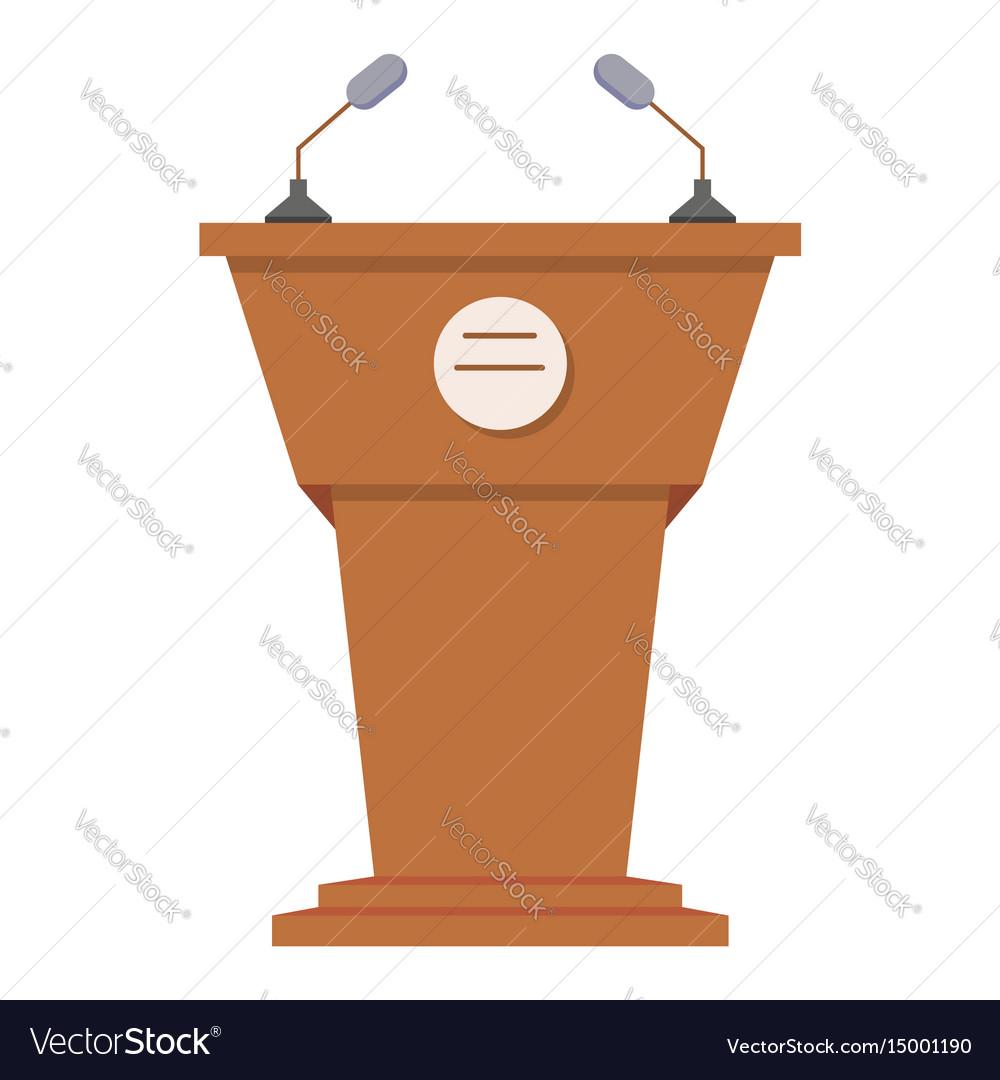 Tribune or rostrum flat icon vector image