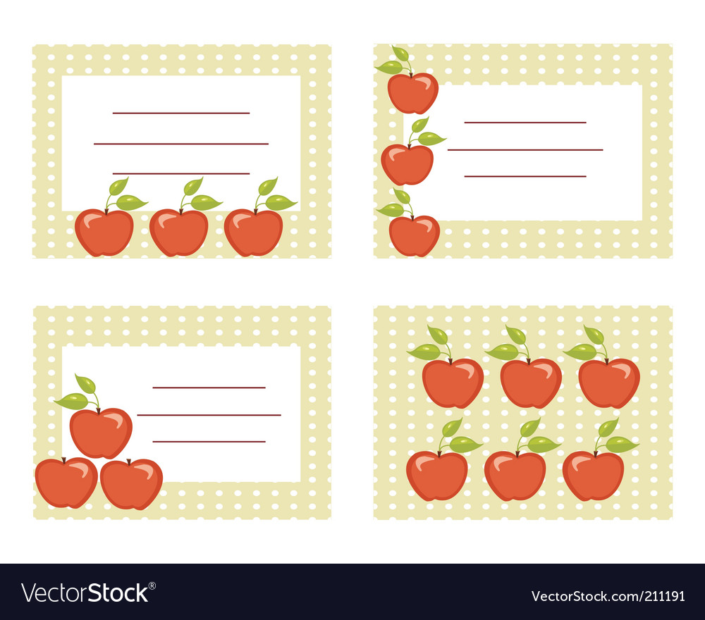 Apple cards vector image