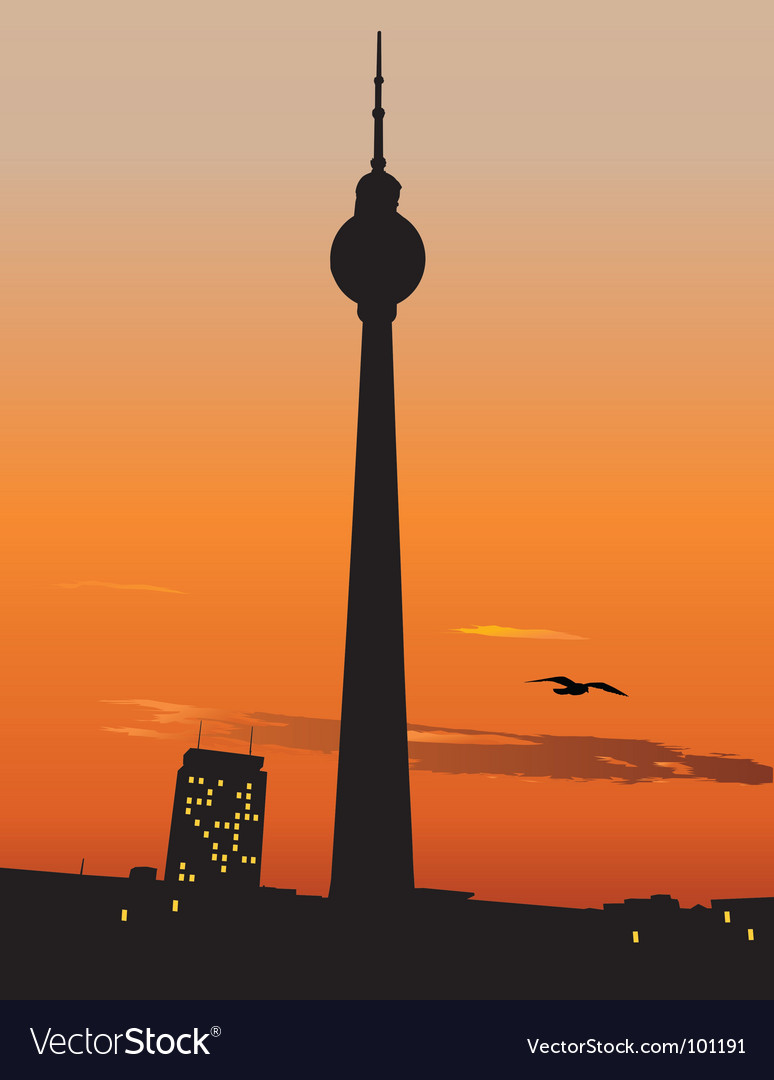 Berlin TV tower vector image