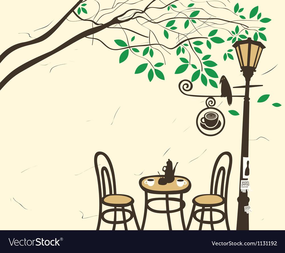 Lantern cafe vector image