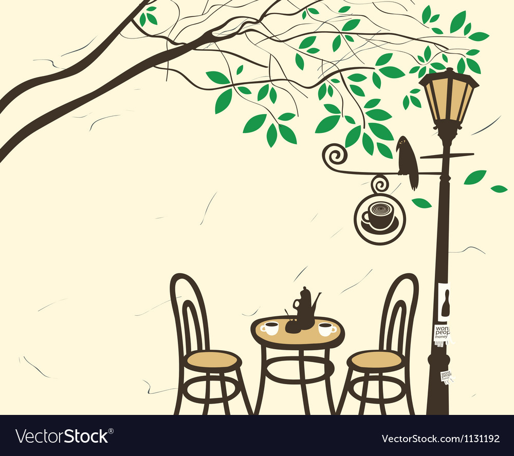 Lantern cafe vector image