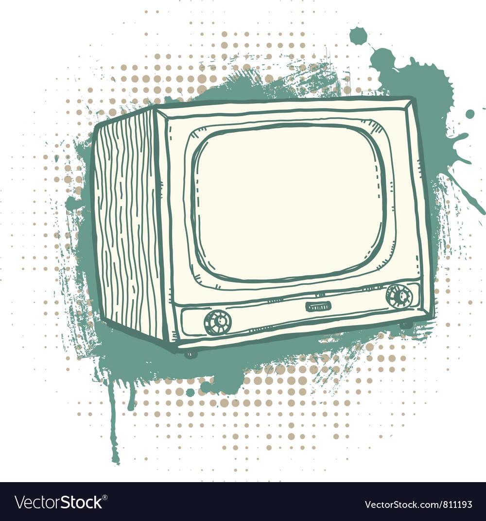Grunge TVset vector image