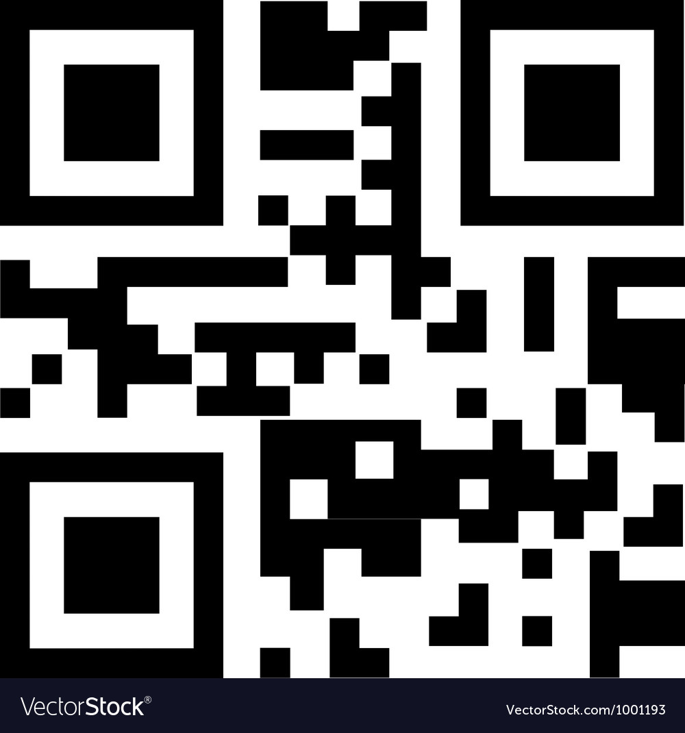 Qr code for smart phone vector image