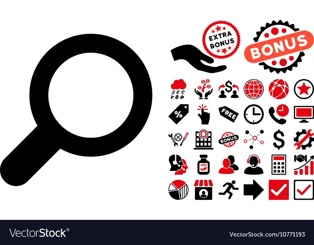 View Flat Icon with Bonus vector image