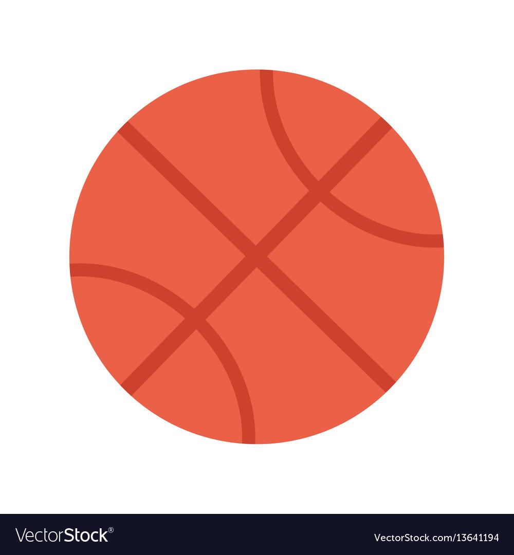 Basketball ball sports equipment vector image