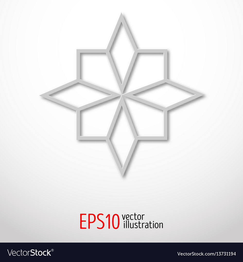 Paper 3d design sacral geometry mystery shape vector image