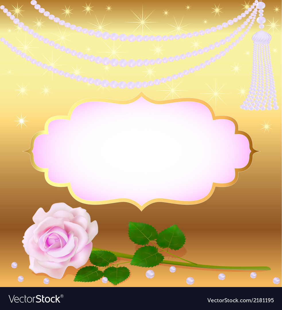 Gold background to the invitation vector image