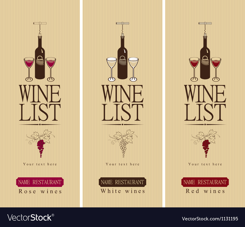 Three wine vector image