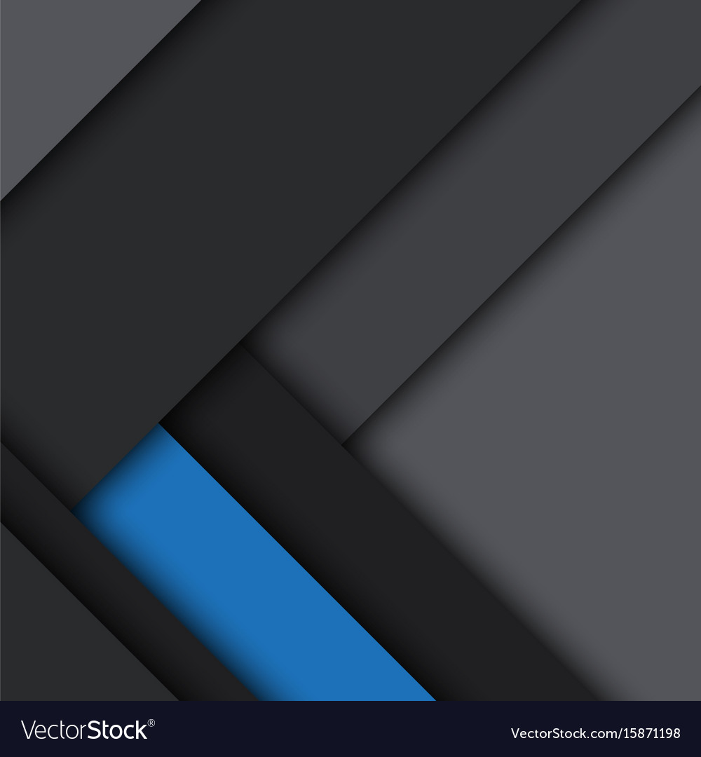 Black and blue modern material design vector image