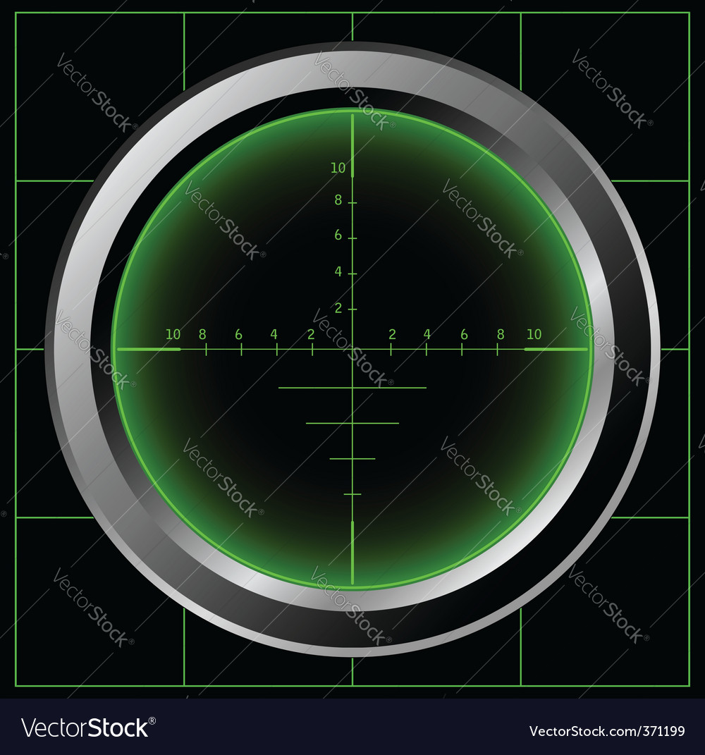 Sniper scope vector image