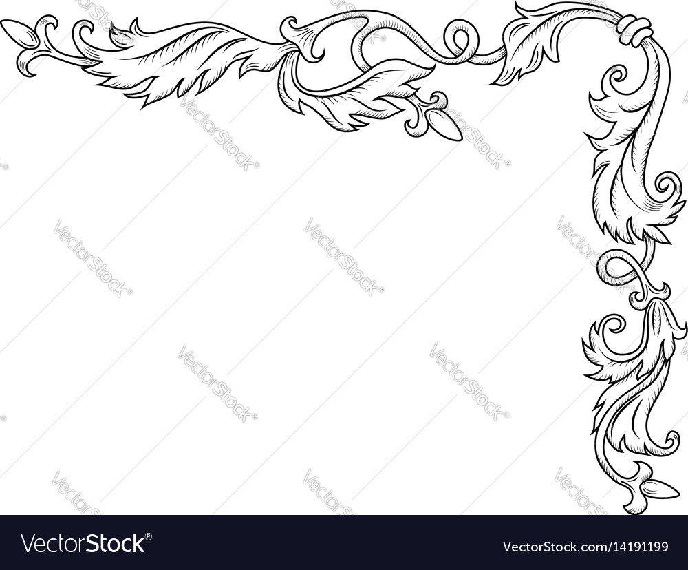 Decorative corner ornament vector image