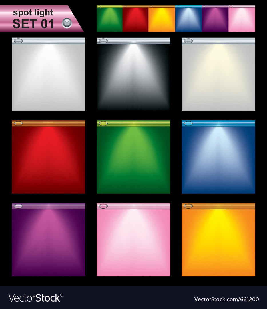 Light frame set Vector Image