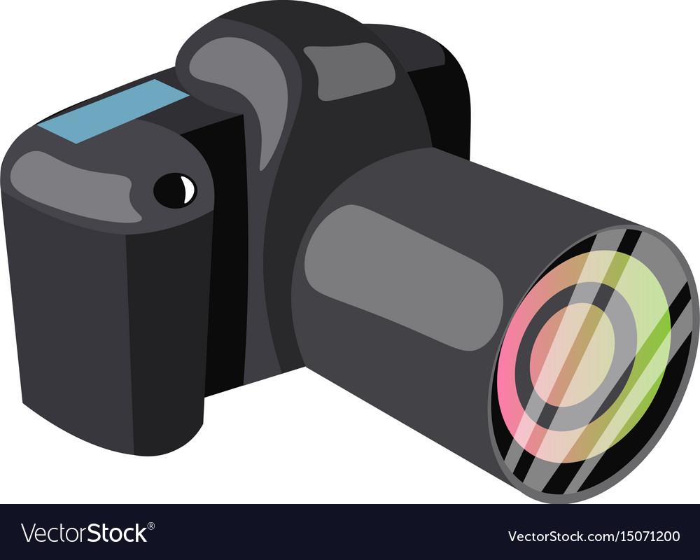 Black professional camera vector image