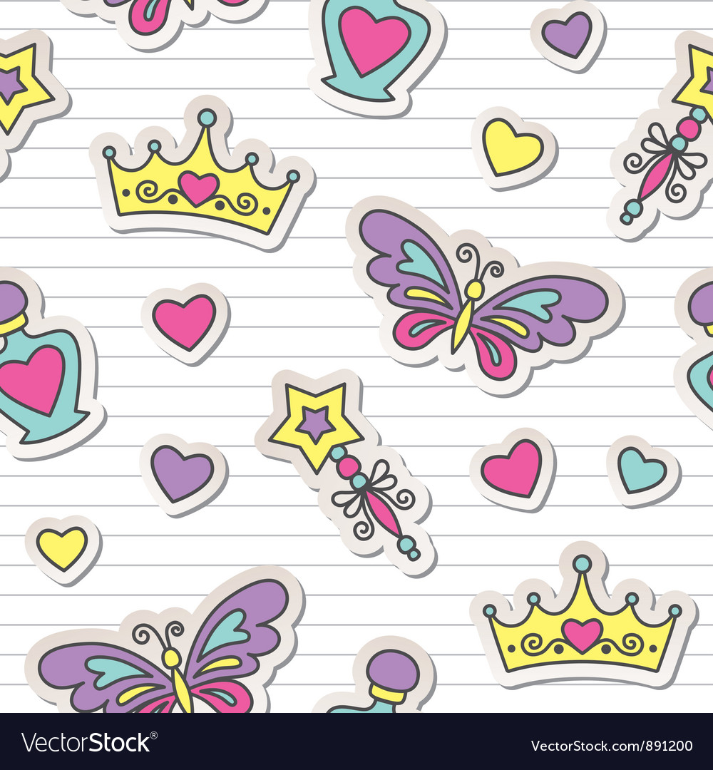 Princess pattern vector image