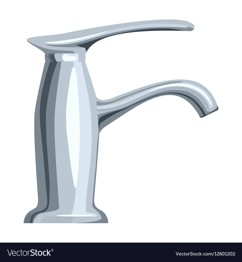 Faucet icon in cartoon style isolated on white vector image