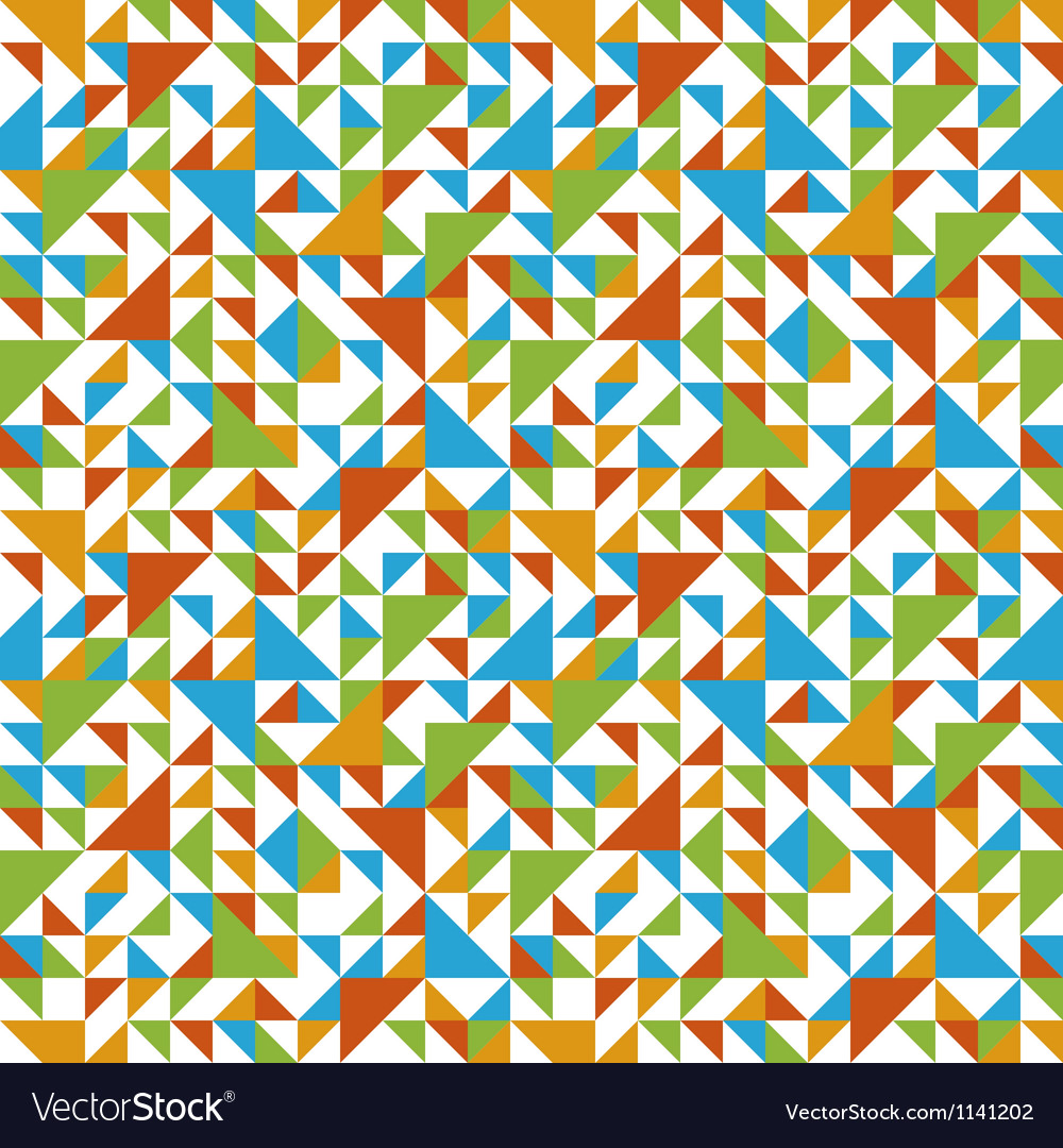 Seamless triangle background contrast vector image