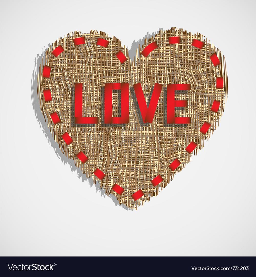 Heart of gunny vector image