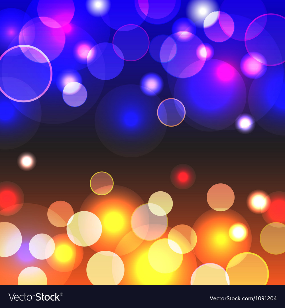 Abstract background with shiny blue and yellow vector image
