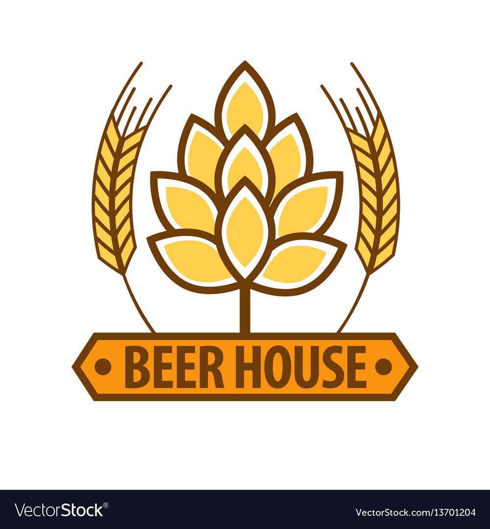 Beer house drink label flat design art pattern on vector image