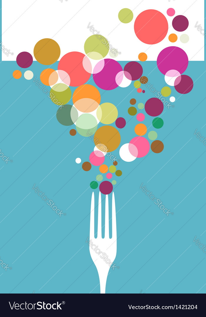 Cutlery restaurant menu design vector image