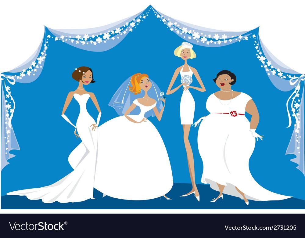 Different brides vector image