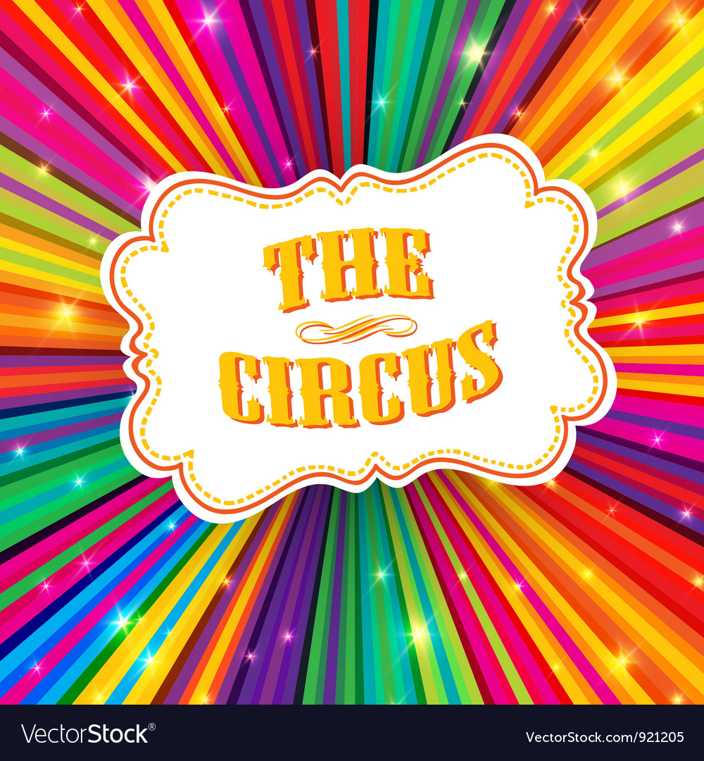 Funny circus poster design vector image