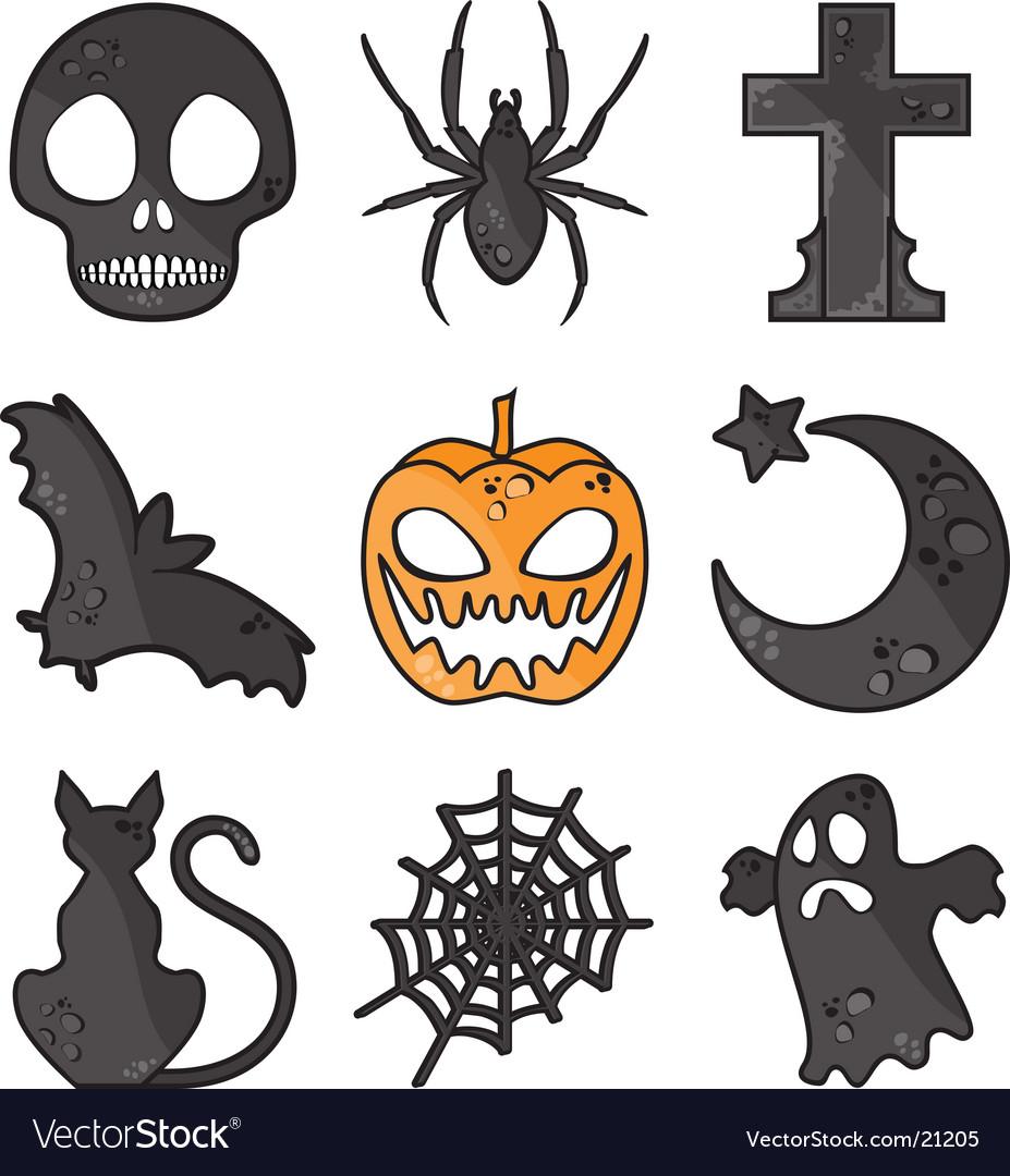 Halloween symbols Royalty Free Vector Image - VectorStock