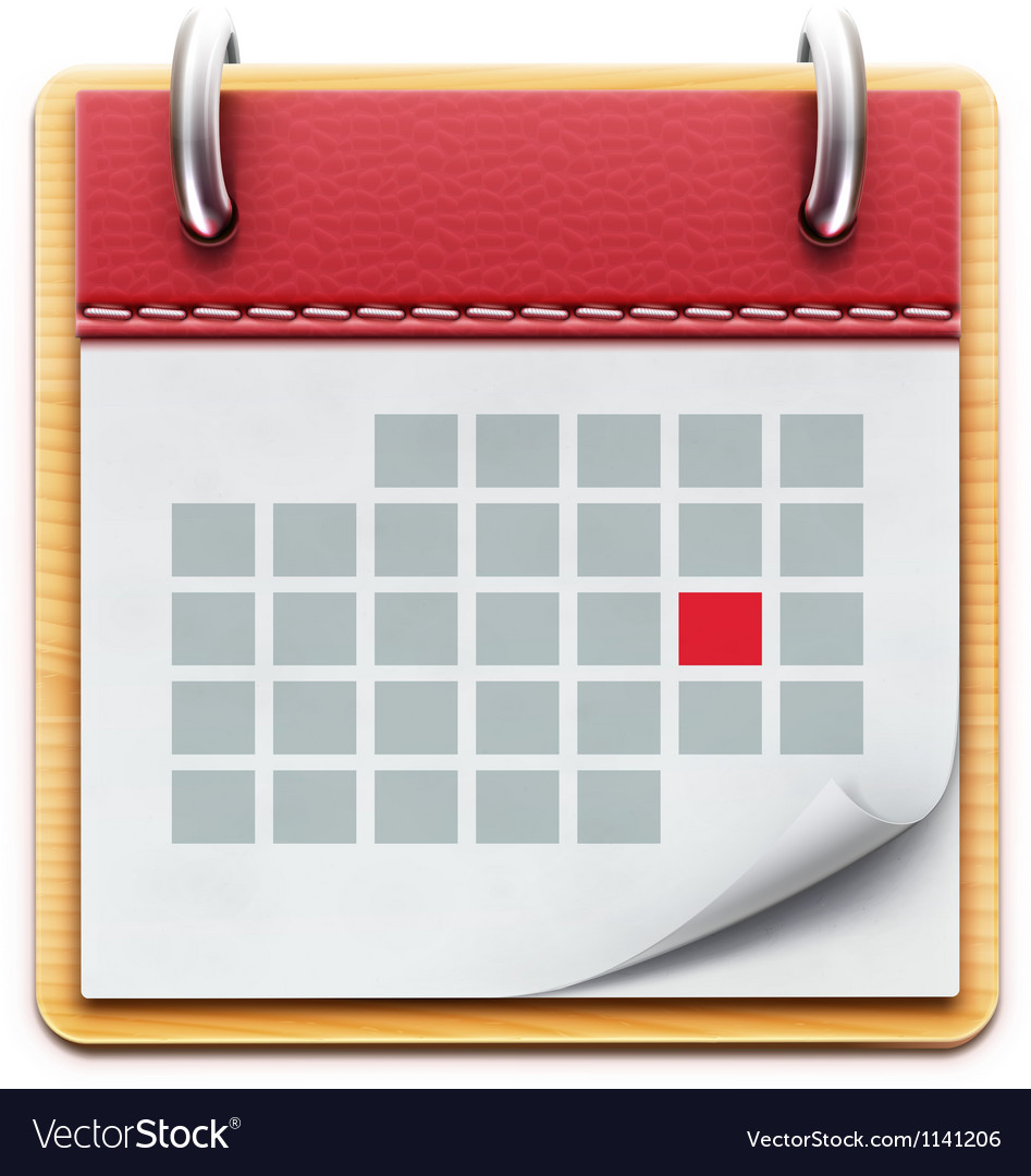 Calendar Icon Vector : Calendar icon royalty free vector image vectorstock