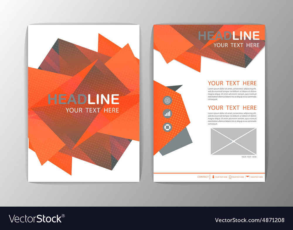Abstract Brochure Template Business Polygon Vector Image - Mini brochure template