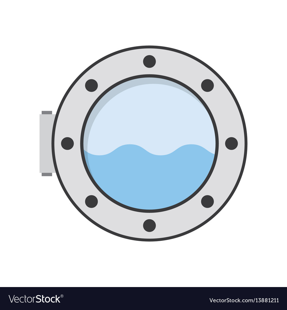 Porthole of ship vector image