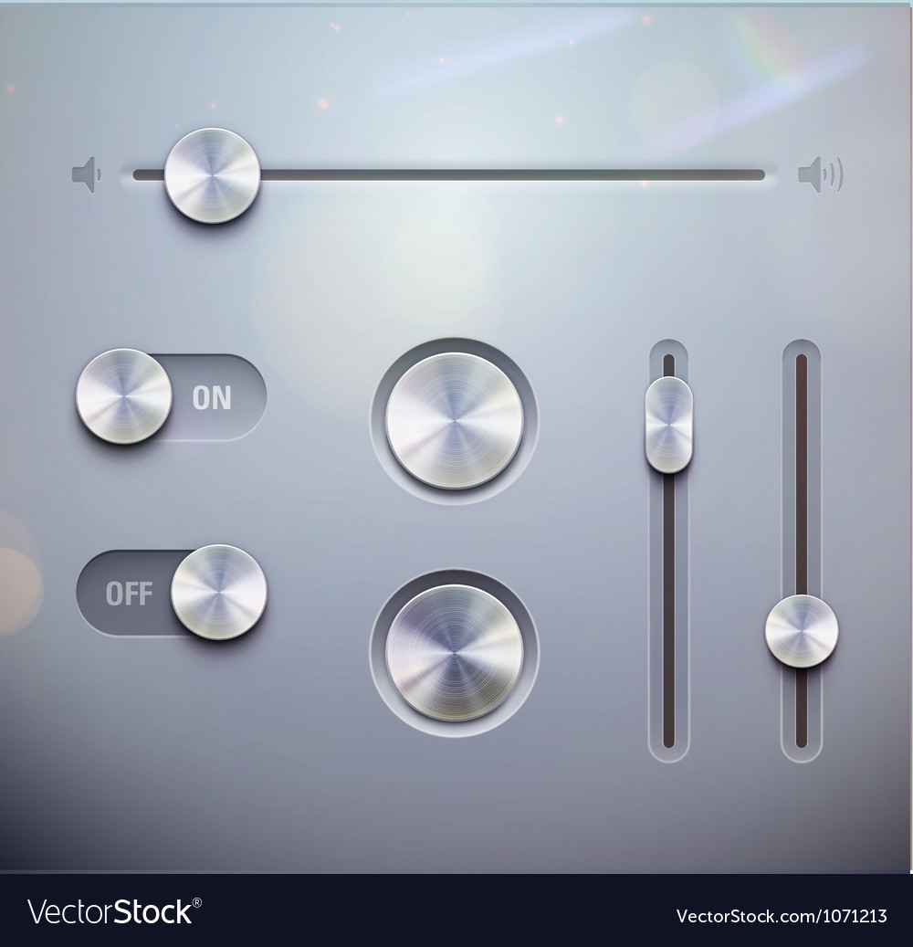 UI elements vector image