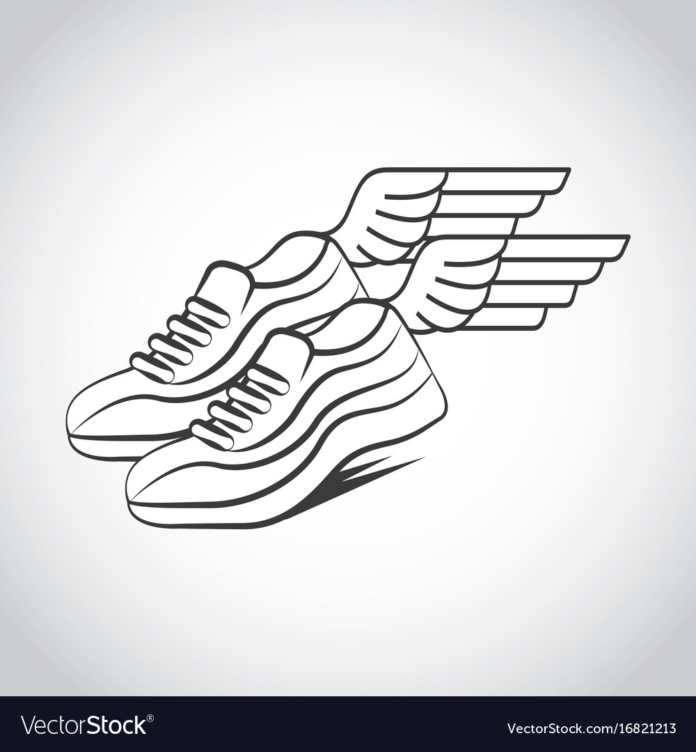 Runner shoes design vector image