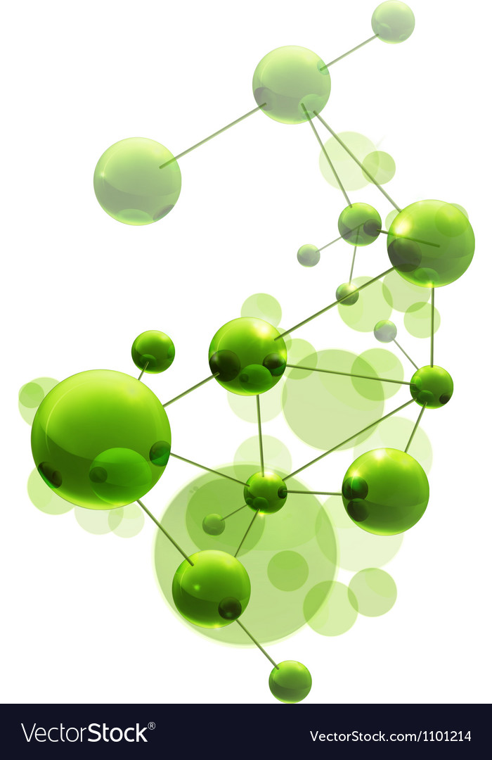 Green molecule vector image
