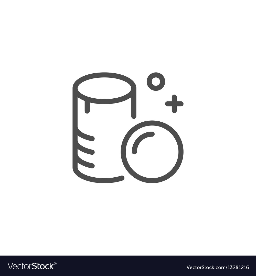 Cotton pads line icon vector image