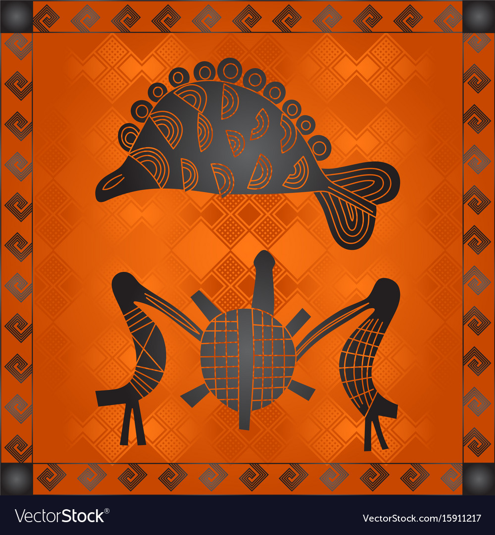 African National Cultural Symbols Royalty Free Vector Image